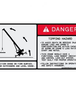 "Tipping Hazard Safety Decal 5.5"" x 11"" - W7377244 - Vinyl Decals - AAxis Distributors"