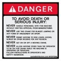 "No Bungee Jumping Safety Decal 5.5"" x 5.5"" - W7377256 - Vinyl Decals - AAxis Distributors"