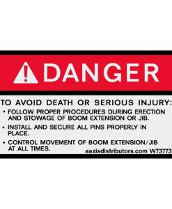 "Procedures Safety Decal 3"" x 5"" - W7377375 - Vinyl Decals - AAxis DistributorsSafety Decals - AAxis Distributors"