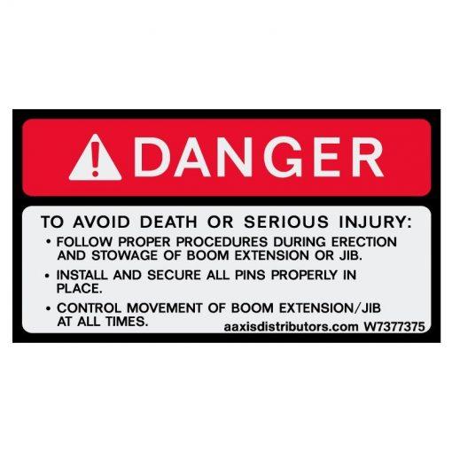 """Procedures Safety Decal 3"""" x 5"""" - W7377375 - Vinyl Decals - AAxis DistributorsSafety Decals - AAxis Distributors"""