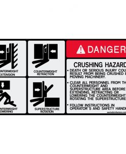 4-Point Crushing Hazard 5.5x11 - W7378527 - Safety Decals - AAxis Distributors