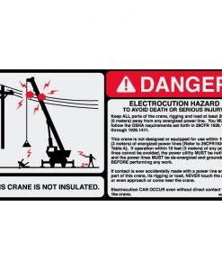 Electrocution Hazard 4.75x9.5 - W8007260 - Vinyl Decals - AAxis Distributors