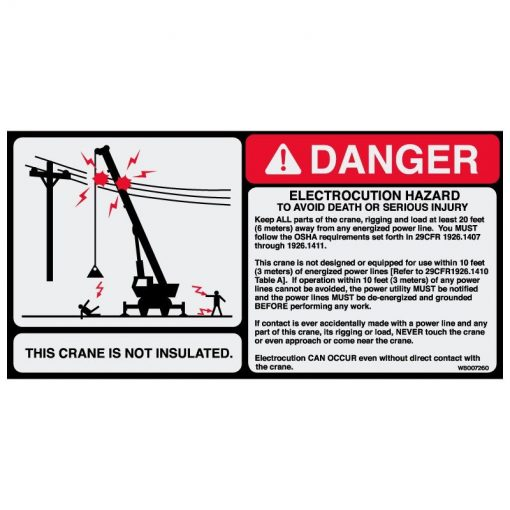 Electrocution Hazard 4.75x9.5 - W8007260 - Vinyl Decals - AAxis Distributors