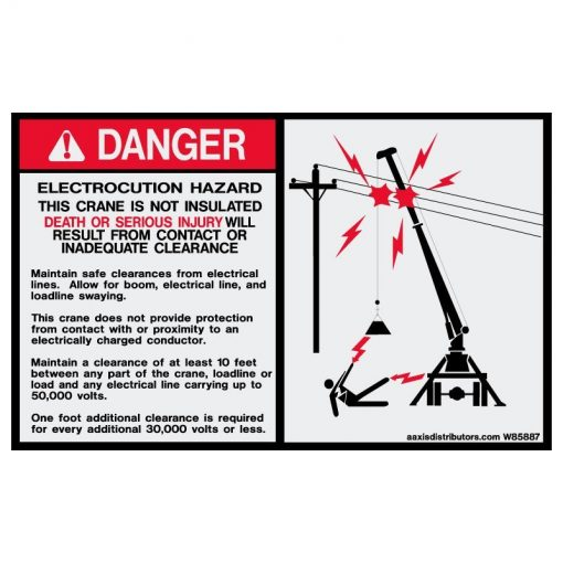 Electrocution Hazard 5x8 - W85887 - Safety Decals - AAxis Distributors