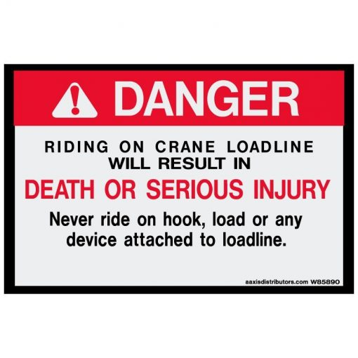 Crane Loadline 5x8 - W85890 - Vinyl Decals - AAxis Distributors