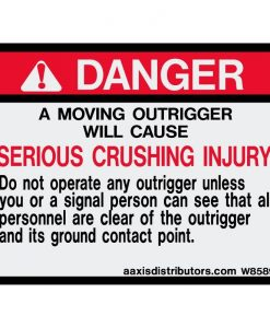 Outriggers Safety Decal 3x4 - W85892 - Vinyl Decals - AAxis Distributors