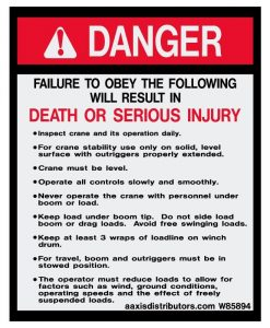 Obey Procedures Safety Decal 5x4 - W85894 - Vinyl Decals - AAxis Distributors