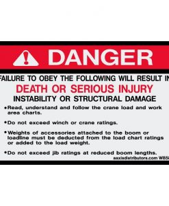 Obey Work Charts Safety Decal 4x6.5 - W85895 - Vinyl Decals - AAxis Distributors